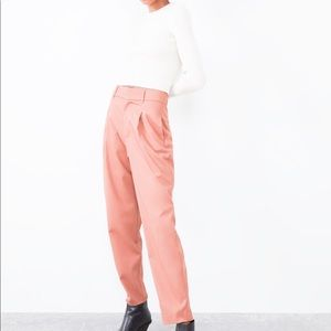 Pastel pink cropped suit pant